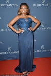 Jennifer Hudson stuns in a strapless navy gown and sparkling jewels
