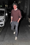 Eddie Redmayne opts for a low-key look as he takes an evening off work