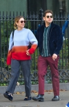 Jonah Hill holds hands with mystery woman as he smokes