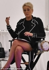Sharon Stone recreates THAT Basic Instinct scene as she sits with legs crossed at event...