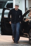 Chris Pratt carries his son Jack as they go to dinner together in LA...