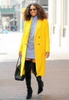 Gabrielle Union turns heads in bold yellow coat and thigh-high boots