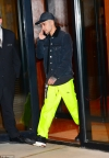 Zayn Malik nails the sports-luxe look in neon yellow joggers and denim jacket