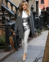 Sarah Jessica Parker steps out in silver top and skinny jeans in NYC