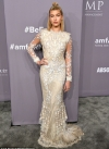 Hailey Baldwin wows in bridal-inspired semi-sheer embroidered gown