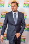 Leonardo DiCaprio looks smart in a jacket and tie at Goed Geld