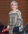 Gwen Stefani steps out in wintry oversized sweater while running