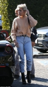 Halsey rocks faded denim and black boots for lunch date with boyfriend G-Eazy
