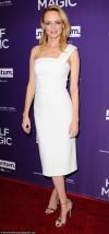 Wonder in white! Heather Graham oozes movie star glamour in cold