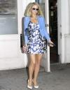 Paris Hilton looks leggy in floral mini-dress at Beautycon NYC...