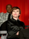 Scarlett Johansson goes hell for leather in flared