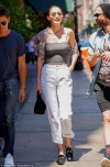 Gigi Hadid leaves little to the imagination as she goes braless