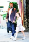 Ben Affleck spiffs up in sports coat while stepping out with daughter