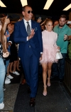 Jennifer Lopez dazzles in feathered baby pink mini dress