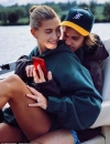 Hailey Baldwin flaunts $500K engagement ring as she cuddles up