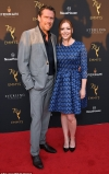 Alyson Hannigan is stylish in blue and black frock with Alexis Denisof