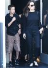 Angelina Jolie treats Shiloh and Pax to a sushi lunch as she looks