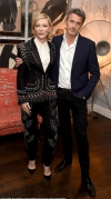 Cate Blanchett, 49, nails androgynous chic in a beaded tuxedo as she joins