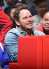 Chris Pratt and bonds with girlfriend's brother Patrick Schwarzenegger at Clippers game...