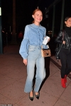 Kate Bosworth is effortlessly chic as she nails double denim while stepping