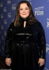 Melissa McCarthy dazzles in black as she is presented with award by Richard E. Grant at Santa Barbara